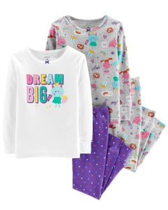 Set-4-piezas---Pijama-de-algodon-con-Glitter-Dream-Big