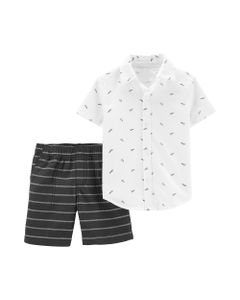 Carter-s-Set-2-piezas-Camisa-manga-corta-y-Short--Avion-de-Papel-