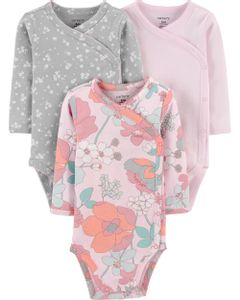 Carter-s-Pack-3-Bodys-con-broches-laterales--Floral-
