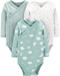 Carter-s-Pack-3-Bodys-con-broches-laterales--Nubes-