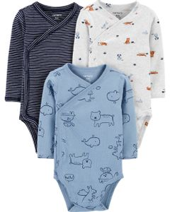 Carter-s-Pack-3-Bodys-con-broches-laterales--Animales-
