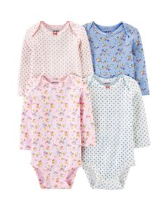 Carter-s-Pack-4-Bodys-manga-larga--Floral-